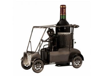 Wein-Flaschenhalter Golfer in Car