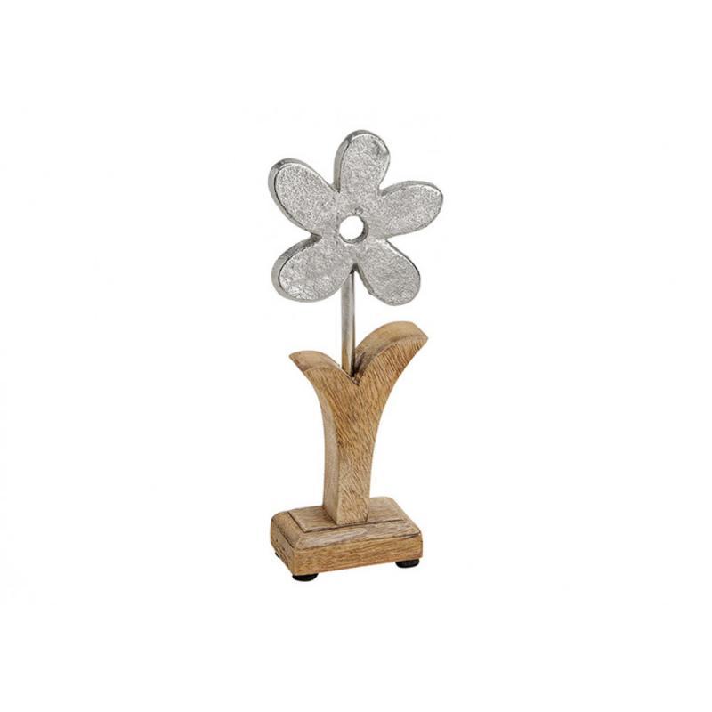 Blume aus Holz & Metall