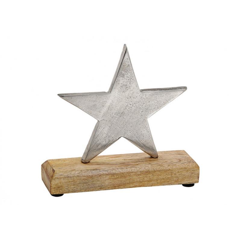 Stern aus Metall & Holz