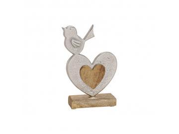 Vogel aus Metall & Holz