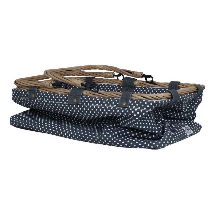 Einkaufskorb blau mit Punkten