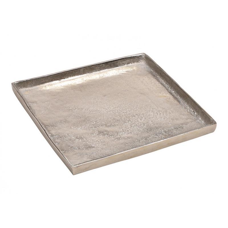 Tablett aus Aluminium Silber