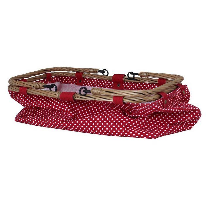 Einkaufskorb rot mit Punkten