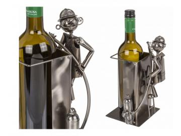 Wein-Flaschenhalter Feuerwehrmann