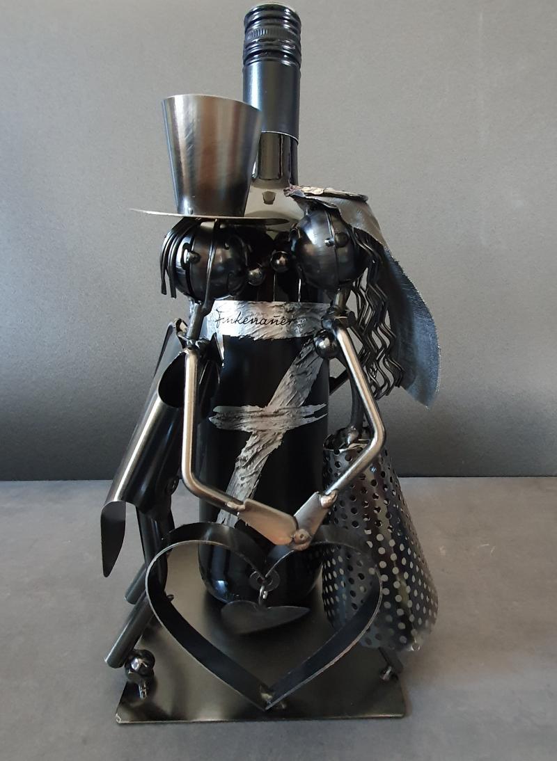 Metall Flaschenhalter Liebespaar