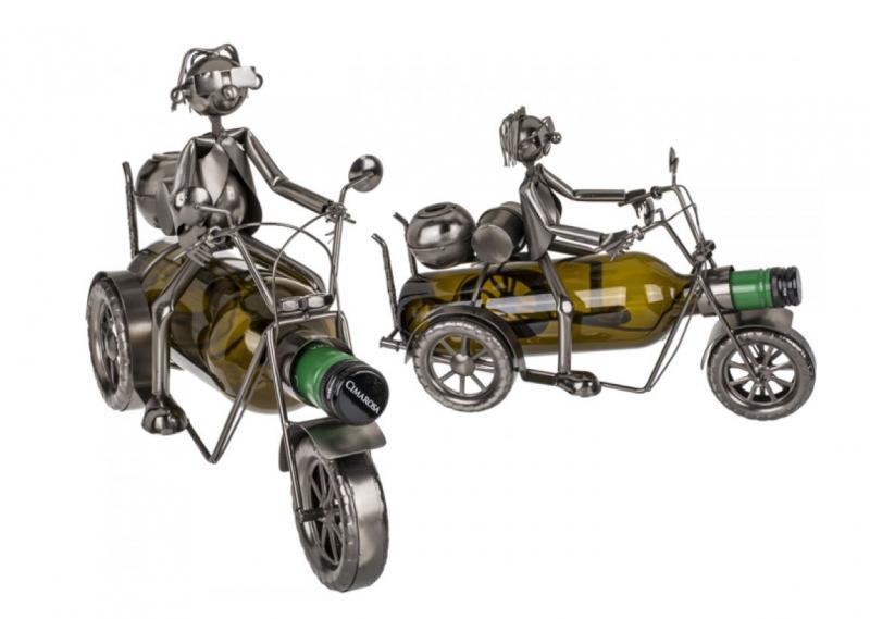 Wein-Flaschenhalter Motorrad