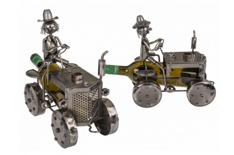 Metall Flaschenhalter Traktor