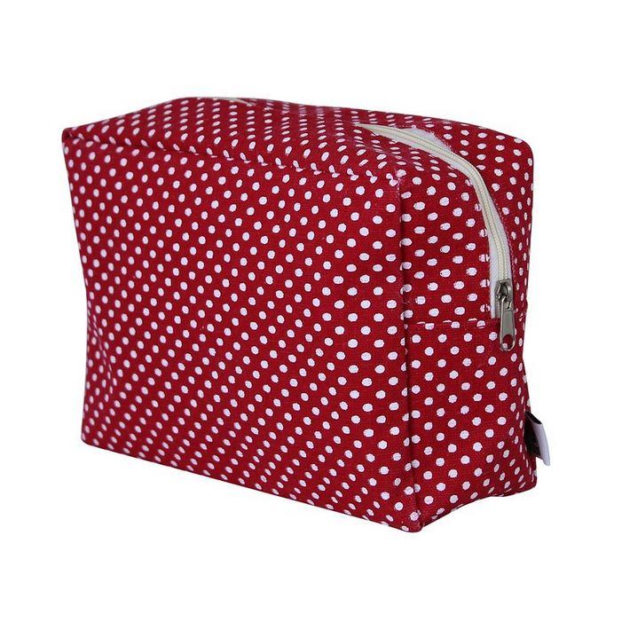 Tasche rot mit Tupfen